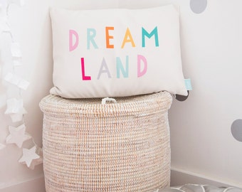 Girls Decorative Throw Pillow, Cute Cushion Cover, Pastel Girls Room Pillow, Teen Accent Pillow, Dreamland Pillow