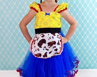 Jessie Toy Story Costume, Jessie dress, Cowgirl dress, Jessie costume, Halloween costume, cowgirl birthday outfit, Toy Story Jessie, sale
