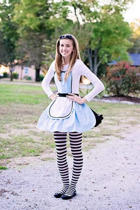 ALICE in WONDERLAND costume apron, Alice in wonderland  Apron,  sexy costume, hostess  apron, bridal shower gift, Halloween costume