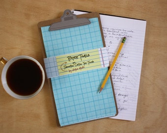 "Graph ""Paper"" Towel - Decorative Cotton Tea Towel // Math // Science // Graphing // Teacher // Middle School // High School // Loose Leaf"
