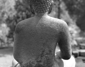 Borobudur Buddha - 5x7 photo in 8x10 mat, borobudur photography, indonesia photography, buddhism, buddha, buddhist wall art, meditation art