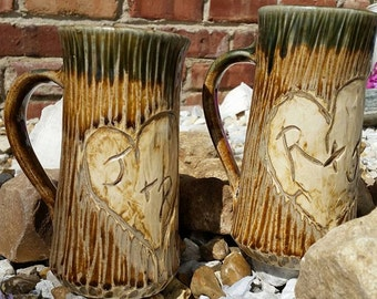 Large mug, large tankard, wood textured custom mug, Custom mug, pint mug, wedding mug, wedding stein, custom stein