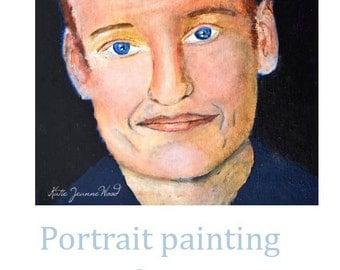Acrylic Conan O'Brien Portrait Painting. Famous Comedian Artwork. American TV Host. Apartment Wall Art Original.