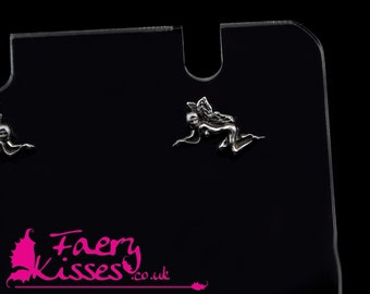Silver Fairy Earring Studs - Beryl- Original Kisses Collection - Exclusively designed by Faery Kisses