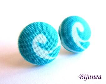 Blue earrings - Turquoise stud earrings - Turquoise posts - Turquoise studs - Blue turquoise post earrings sf1302