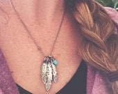 Warrior Heart Neacklace hand stamped sterling silver feather personalized mothers inspirational necklace
