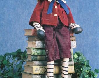 Mailed Cloth Doll Pattern - 25 inch Boy Zebra Doll