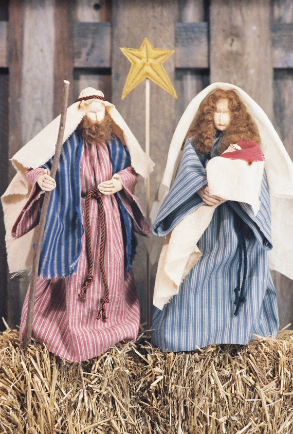 Mailed Cloth Doll Pattern - Christmas Nativity