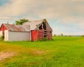 Farm Decor, Barn Photography, Farmhouse Decor, Country Landscape, Rustic Home Decor, Rural Photography, Abandoned Barn Print, Art Photo