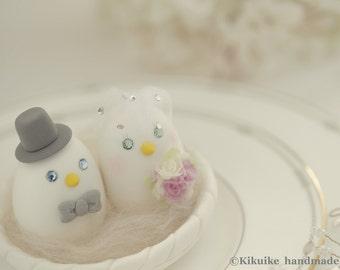 love bird with nest Wedding Cake Topper (K312)