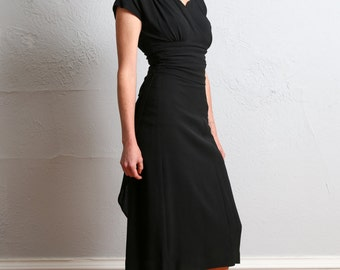 SALE- Vintage Black Dress Cocktail Attire LBD