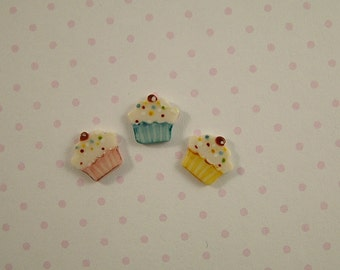 Cup Cake Embellishment set of 3