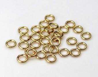 Set of 30 14K Gold Fill 4mm Closed Jump Rings