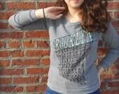 Brooklyn Sweatshirt Womens Pullover in Grey