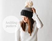 Ozetta Breck Ombré Tone Knit Hat Pattern Instant Download
