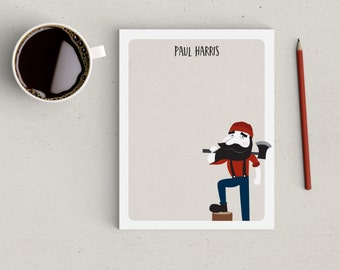 Personalized Notepad Lumberjack