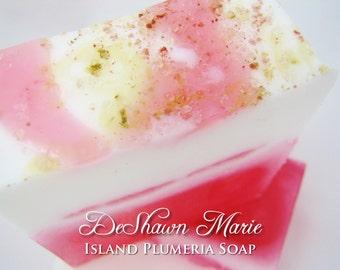 SALE SOAP - Island Plumeria Handmade Soap, Plumeria Soap, Vegan Soap, Soap Gift