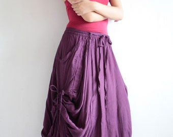Helen Skirt.. Dark purple  No.21 mix silk...(avalible All sizes/ all colors)