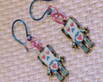 For the Love of Robots Earrings