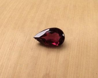 Natural Rhodolite Garnet - Pear cut Rhodolite Garnet Gemstone averaging 5x8mm, 1 carat - LSG670