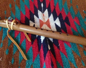 High C Native American Style Flute with Horse Totem