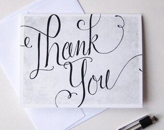 Thank You Card • Gratitude • Chalkboard • Modern Calligraphy