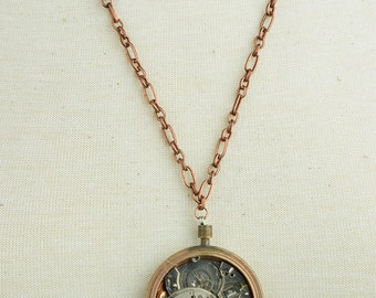 Exposed Watch Pendant Necklace , Steam punk , sold each