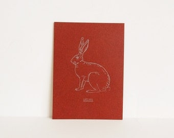 Letterpress Animal Postcard Set