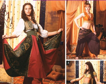 Misses Costume -Belly Dancing Costumes- Simplicity 5359 Sewing Pattern, Blouse, Corset, Skirt, Veil - Sizes: 6 -8 -10 -12 or 14 -16 -18 -20