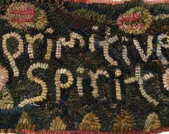 Primitive Spirit rug hooking pattern