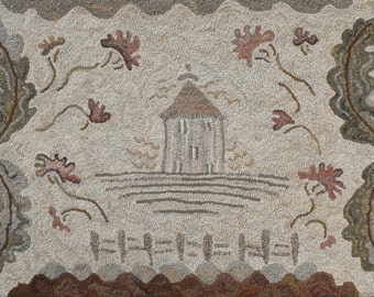 Le Petite Chateau rug hooking pattern