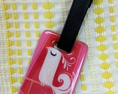Fancy Feathers Luggage Tag