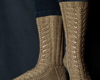Terra Firma Sock Knitting Pattern - PDF