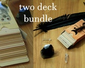 the wooden tarot and the earthbound oracle bundle