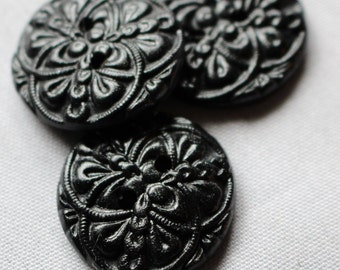 Celtic Buttons, Large Buttons, Black Buttons, Polymer Clay Buttons No.167