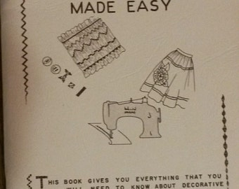 Vintage Zigzag Sewing Made Easy booklet