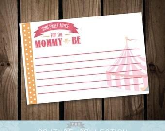 ADVICE CARDS - Little Peanut Baby Shower - Girl Baby Shower - Printable DIY Digital File