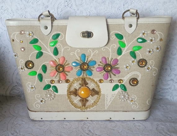 White Enid Collins Purse From Etsy Shop TheVintageHandbag