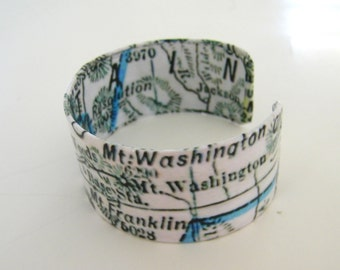 """White Mtns  cuff bracelet -1"""" - gift-boxed"""