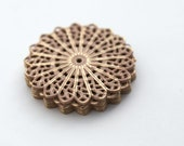 Dusty Rose Gold Alloy Filigree Flat Round Flower Stamping Findings 35mm (6)