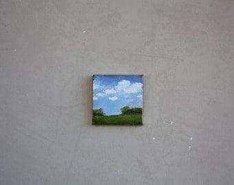 """Landscape  3"""" square canvas"""