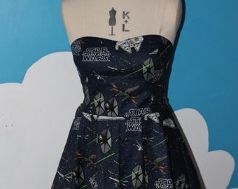 star wars - the force awakens - sweet heart dress - jedi. womens sci-fi dress.