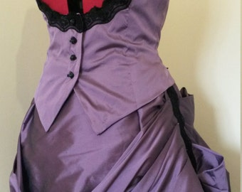 Ladies Waistcoat, Underbust, steampunk waistcoat, black lace, lacing, Victorian style, Goth waistcoat