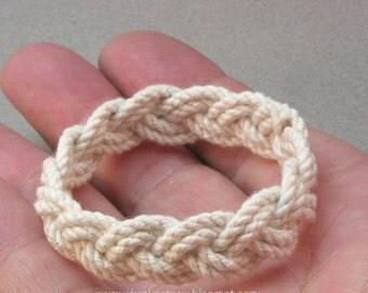 child size rope bracelet sailor bracelet rope jewelry turks head knot bracelet extra small baby bracelet 3539