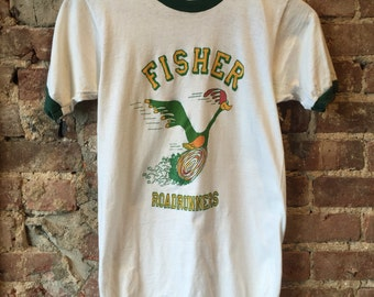 vintage 70s fisher roadrunner t-shirt