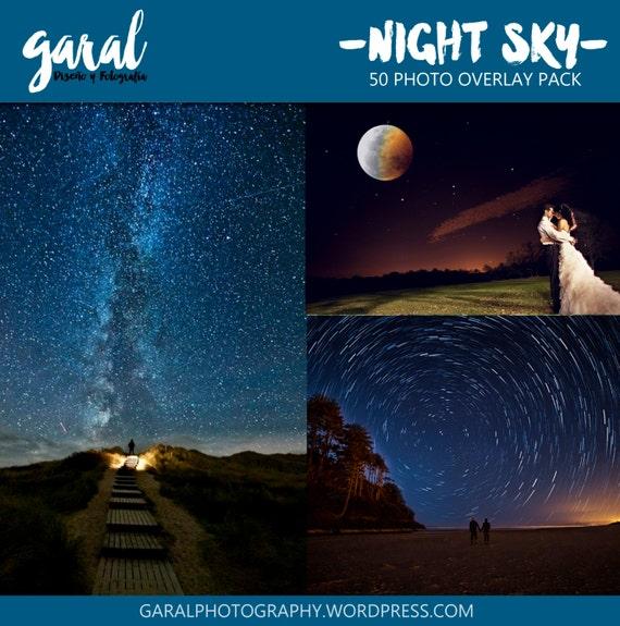 NIGHT SKY Photoshop Overlays Backdrop Background Night Sky