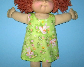Cabbage Patch Kids  Doll Clothes  Dress  16 Inch Vintage Classic Baby Bunnies Jumper