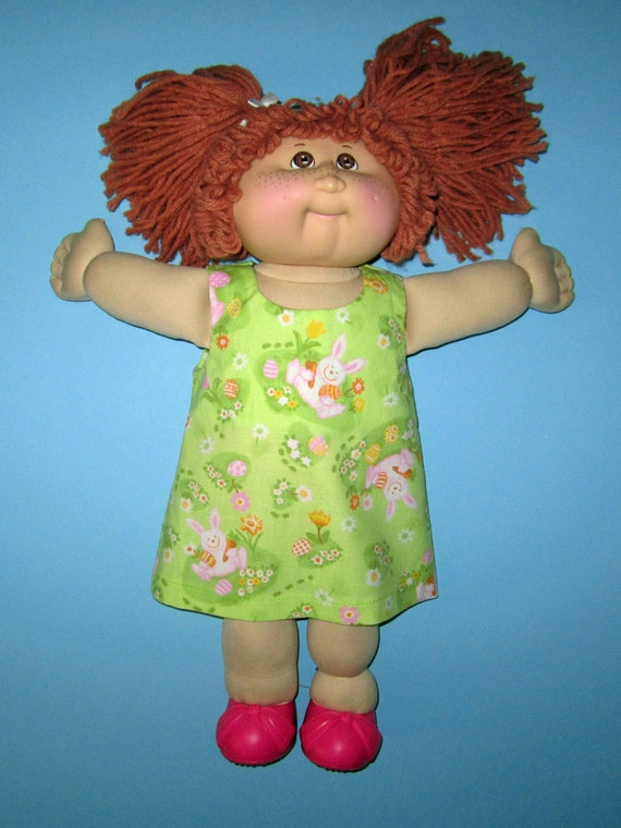 Cabbage Patch Knit Hat With Fringe And Pigtails Pattern : Cabbage patch dress