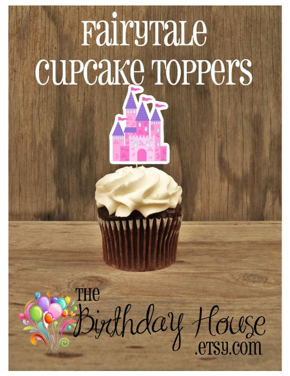Princess Party - Set of 12 Fairytale Castle Cupcake Toppers by The Birthday House
