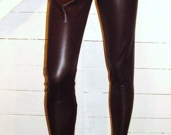 Granros Black Shiny Spandex Leggings L